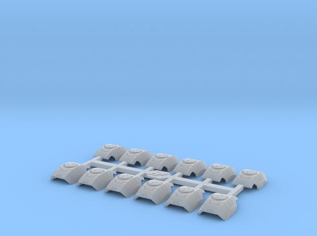 Shoulder Pads Curved Victor 1 in Smooth Fine Detail Plastic
