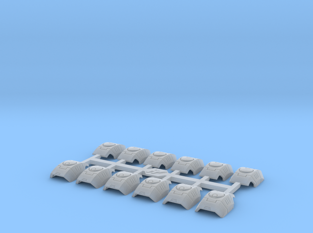 Shoulder Pads Curved November 1 in Smooth Fine Detail Plastic