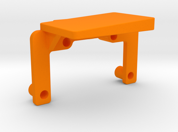 OX CNC - X Axis Drag Chain Mount Top v3 in Orange Processed Versatile Plastic