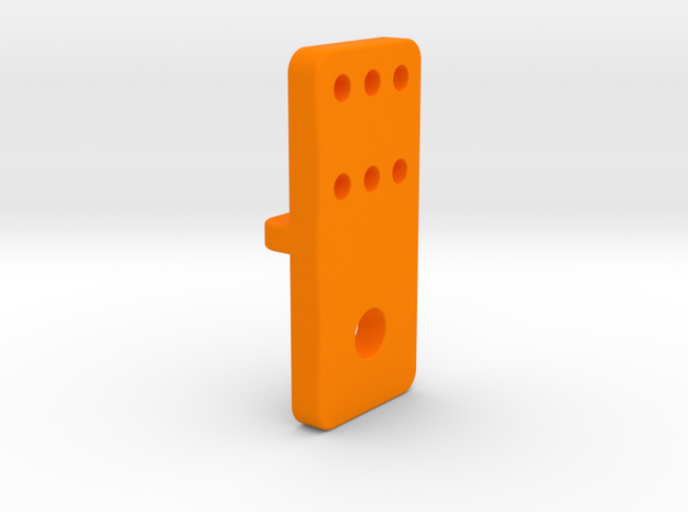 OX CNC - X Axis Limit Switch Bracket v3 in Orange Processed Versatile Plastic
