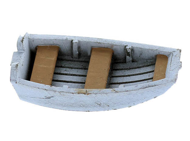 Dinghy Boat S Scale in Smooth Fine Detail Plastic