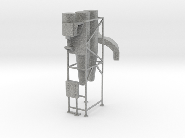Cyclone Dust Collecter - HO 87:1 Scale in Metallic Plastic