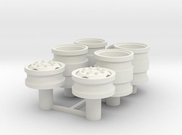 Velgen driehoek gaten Lion Toys 20x6mm in White Natural Versatile Plastic