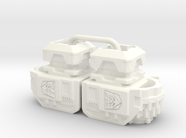 Terror Combiner's Wide Shoulders in White Strong & Flexible Polished