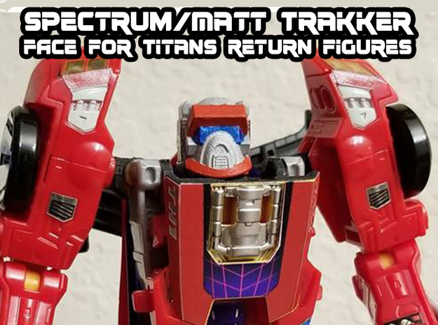 Matt Trakker Spectrum Mask (Titans Return) in Smooth Fine Detail Plastic