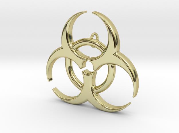 Biohazard in 18k Gold Plated Brass