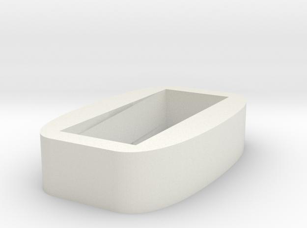 Dunvegan Viking Pommel Ferrule Inset in White Natural Versatile Plastic