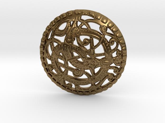 Dunvegan Viking Pommel Coin in Natural Bronze