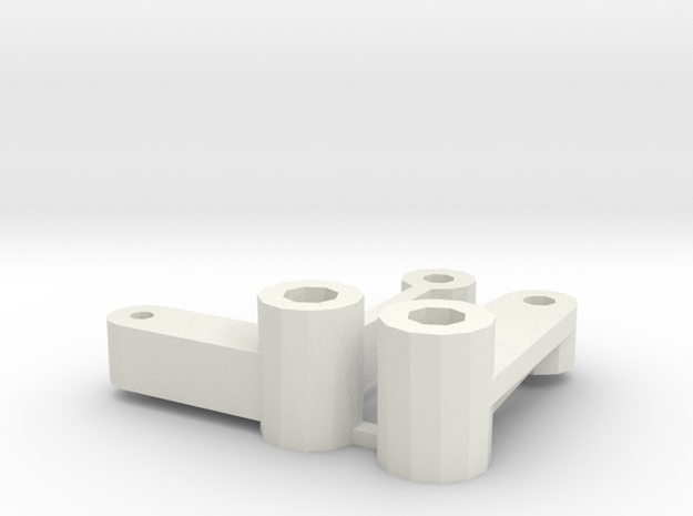 losi jrx2 and jrxT servo saver and idler arm in White Natural Versatile Plastic