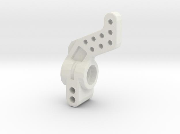 losi jrx pro rear hub carrier in White Natural Versatile Plastic
