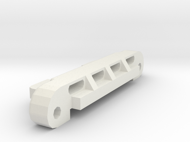 losi jrx pro rear pivot support in White Natural Versatile Plastic