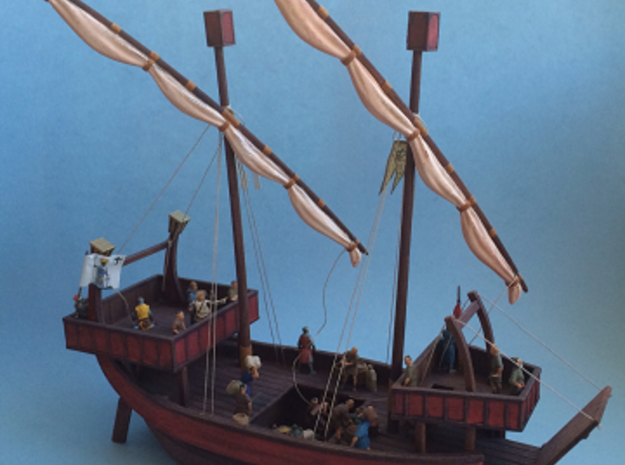 Medieval Ship Pegs in White Strong & Flexible