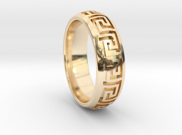 Greek Pattern Ring 01 in 14K Yellow Gold