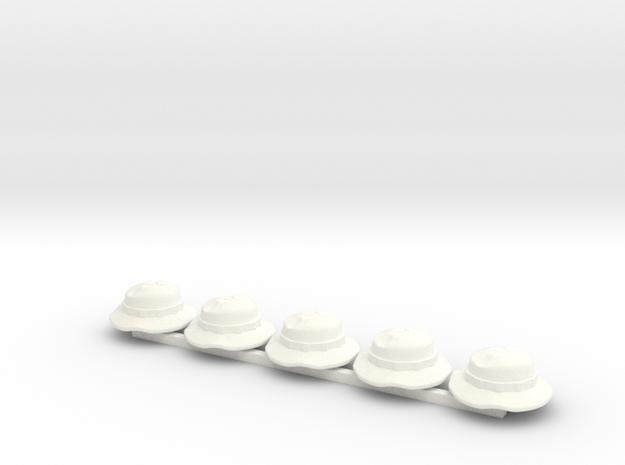 5 x Bonnie in White Processed Versatile Plastic