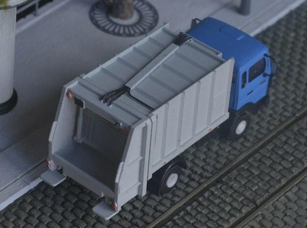 Dumpster body for truck - Benne à ordure - HO in Smooth Fine Detail Plastic