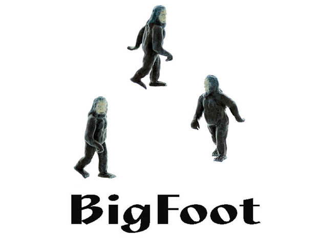BIGFOOT O Scale Creature in Smooth Fine Detail Plastic