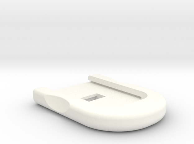 SIG P320 Base Plate - x5 RECTANGLE SPRING Plate in White Processed Versatile Plastic