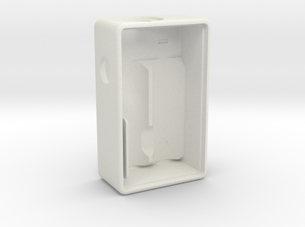 #approved 18650 Single Mech Squonk Box Mod in White Natural Versatile Plastic