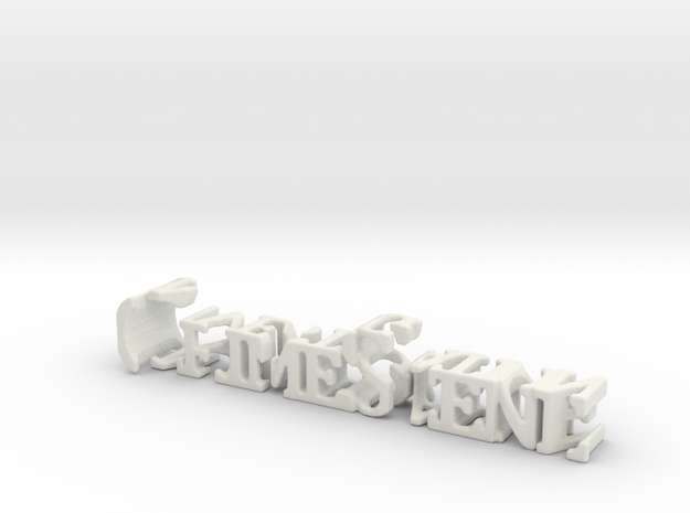 3dWordFlip: CrimeScene/Investigation in White Natural Versatile Plastic