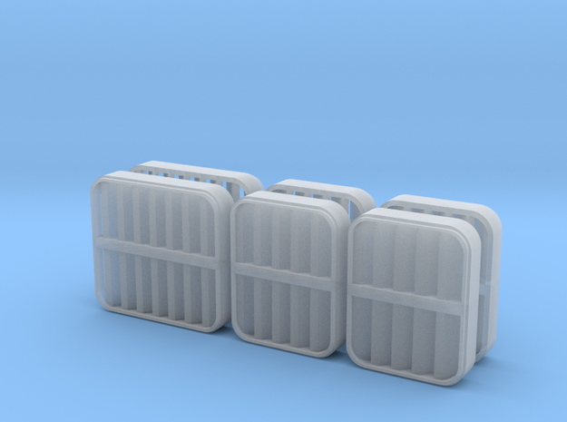 1/96 scale Perry Vents in Smooth Fine Detail Plastic