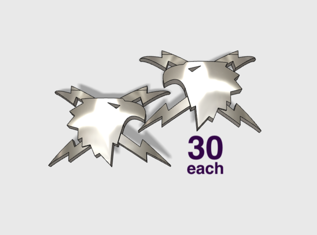 60x Thunder Eagles : Shoulder Insignia pack in Frosted Ultra Detail