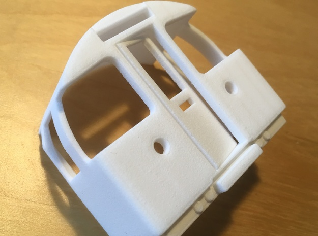 1967 tube underground train cab O-gauge in White Processed Versatile Plastic