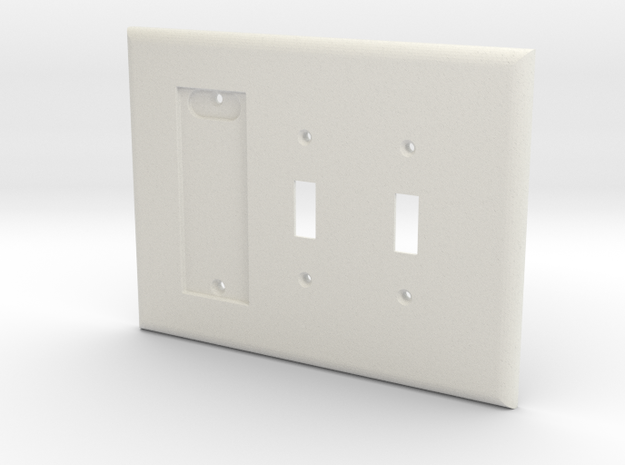 Philips Hue Dimmer 3 Gang Switch Plate L in White Natural Versatile Plastic