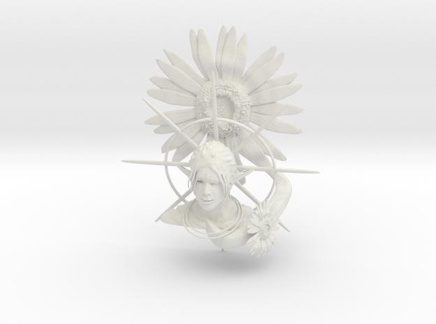 Sunflower and Elf in White Natural Versatile Plastic