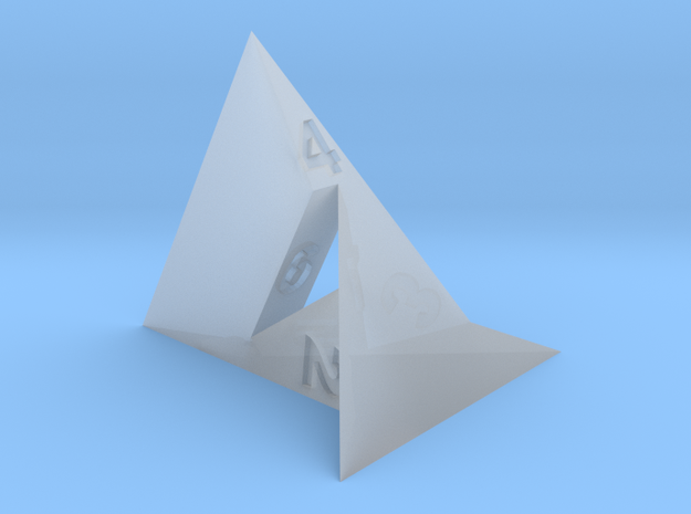 d4 Szilassi Polyhedron in Smooth Fine Detail Plastic