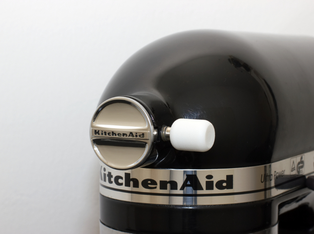 Attachment Cover Knob – for Kitchenaid Stand Mixer in White Processed Versatile Plastic