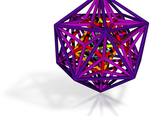 Nested Platonics Purple 100mm 3d printed photos coming soon