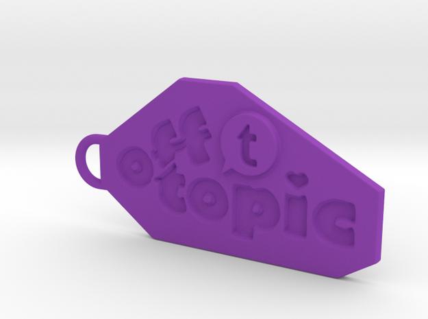 Off Topic key chain in Purple Processed Versatile Plastic