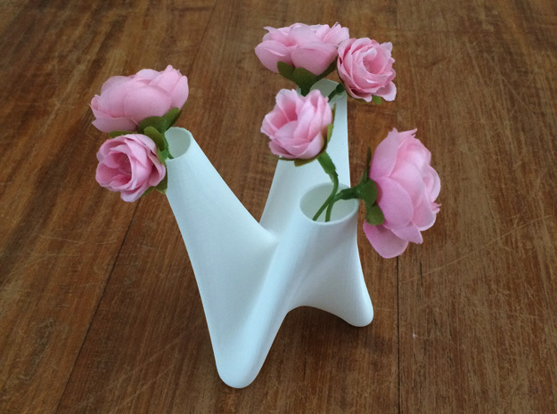 3 in 1 vase small 3d printed 3in1vase with flowers