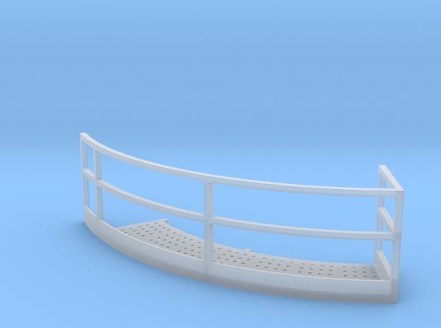 1/64 18' Tower Catwalk Round Left in Smooth Fine Detail Plastic