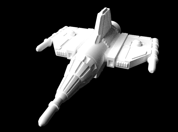 Alliance Pursuit Frigate in White Natural Versatile Plastic: Large