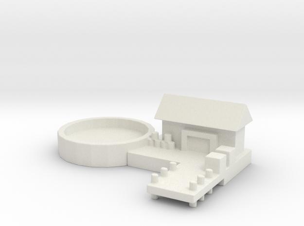 Naval Base Option 1 in White Natural Versatile Plastic