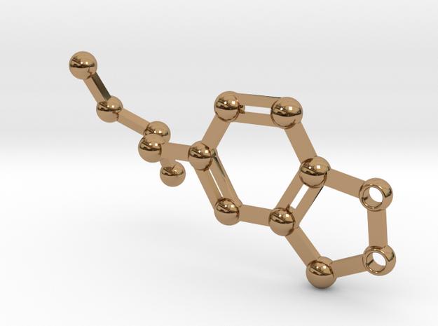 Ecstasy pills - keychain in Polished Brass
