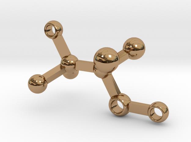 alcohol - keychain in Polished Brass