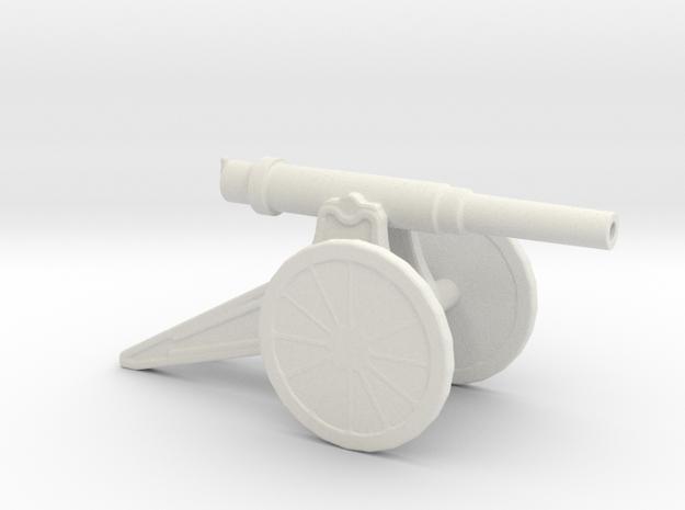 152mm 120 Pood M1877 Siege Gun 1/100 in White Natural Versatile Plastic