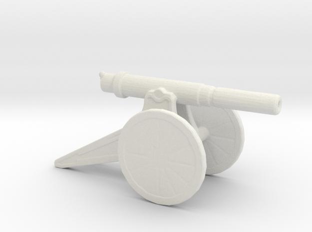 152mm 120 Pood M1877 Siege Gun 1/200 in White Natural Versatile Plastic
