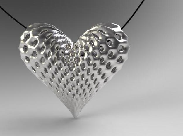 oh my heart ! 3d printed render in silver