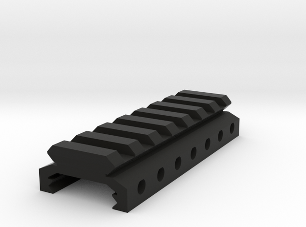 "3/8"" High 7 Slots Hybrid Picatinny/Weaver Riser in Black Natural Versatile Plastic"