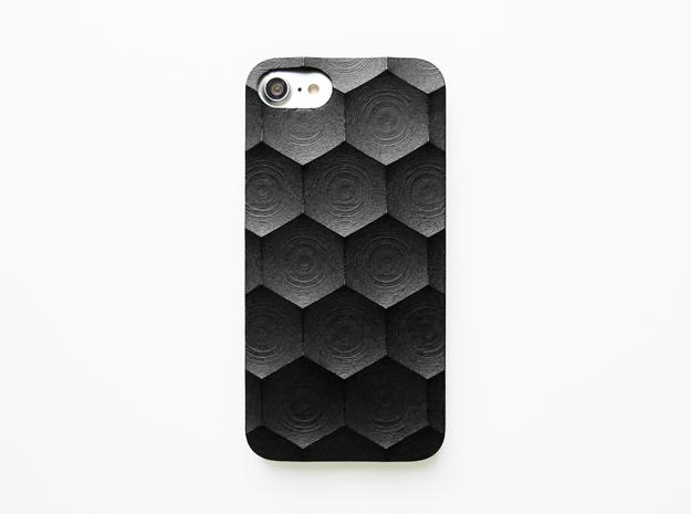 iPhone 7 case_Hexagon in Black Premium Strong & Flexible