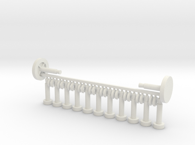 Rollover Pegs for pinball machines in White Natural Versatile Plastic