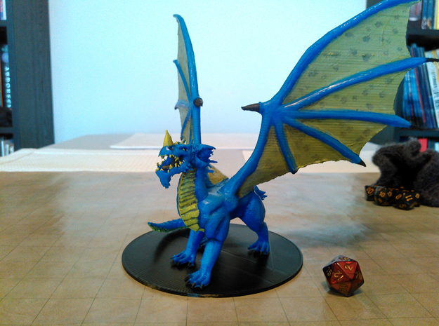 Ancient Blue Dragon  in Blue Strong & Flexible Polished