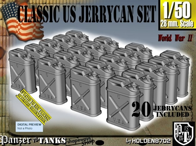 1/50 US Jerrycan x20 Set101 in Frosted Ultra Detail