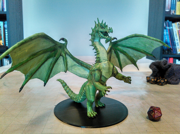Green Dragon Adult in Green Processed Versatile Plastic