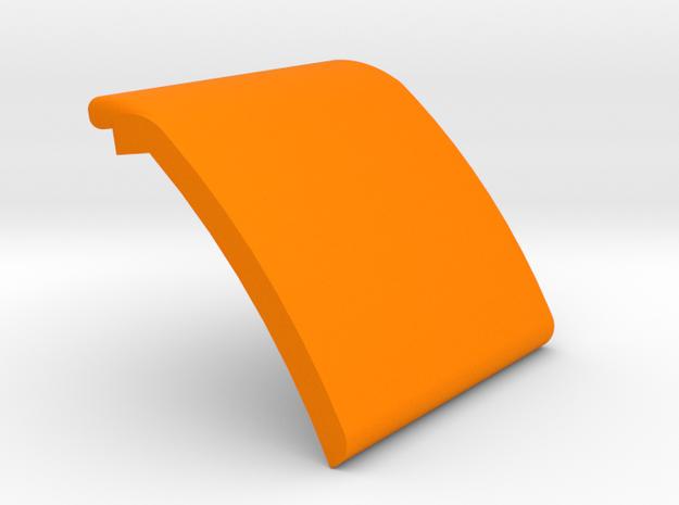 Lok External mast gate plate, no slot & Hinge in Orange Processed Versatile Plastic