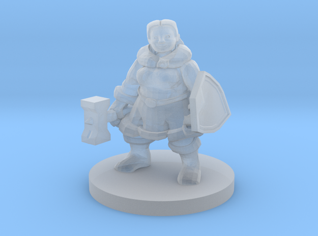 Female Dwarf Fighter in Smooth Fine Detail Plastic