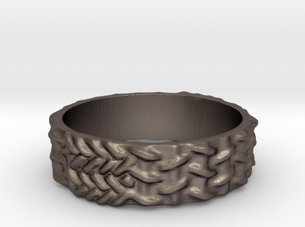 WIRESMESH 7 in Polished Bronzed Silver Steel